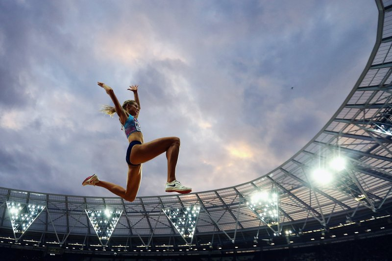 LONDON, ENGLAND - AUGUST 11:  Darya Klishina of the Authorised Neutral Athletes competes in the Women's Long Jump final during day eight of the 16th IAAF World Athletics Championships London 2017 at The London Stadium on August 11, 2017 in London, United Kingdom.  (Photo by Alexander Hassenstein/Getty Images - for IAAF)